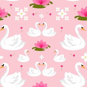 Padrão de cisne de estilo elegante