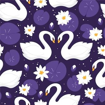 Padrão de cisne elegante bonito