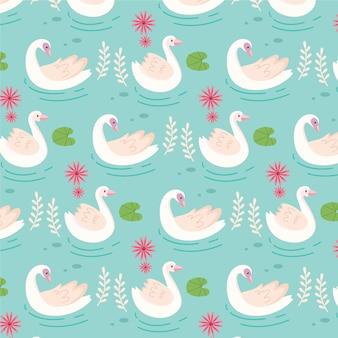 Padrão de cisne elegante
