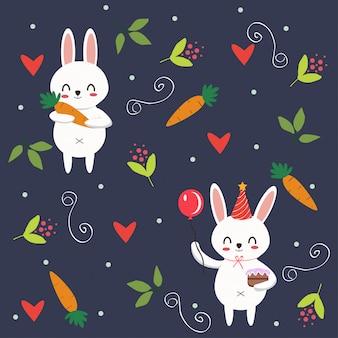 Padrão de coelho coelhinho fofo