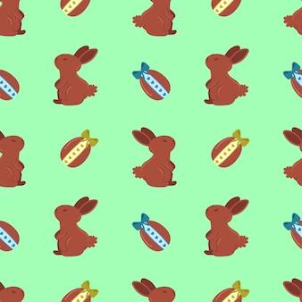 Padrão de coelhos de chocolate