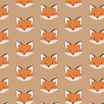 Padrão de coleção de outono raposa