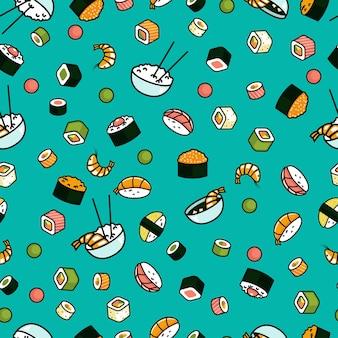 Padrão de comida japonesa perfeita