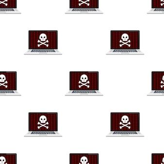 Padrão de conceito de segurança cibernética. conceito de segurança cibernética. proteção contra o vírus. ilustração em vetor das ações.