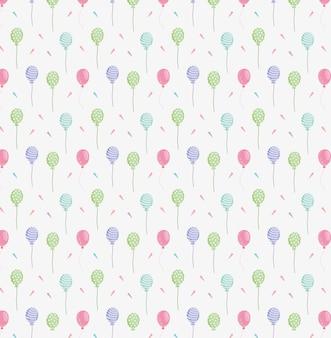 Padrão de confete de balões