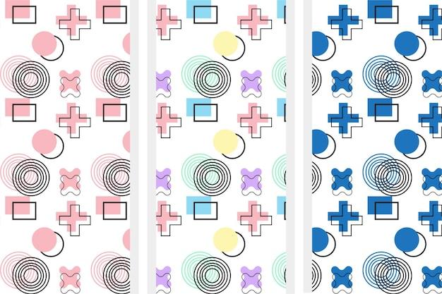 Padrão de cor pastel geométrica moderna