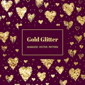 Padrão de coração de ouro