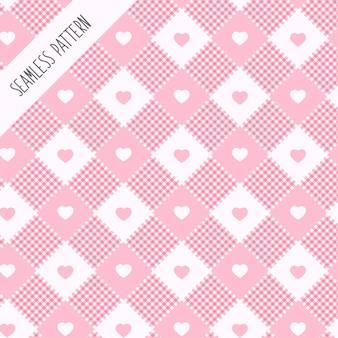 Padrão de coração rosa claro premium Vetor Premium