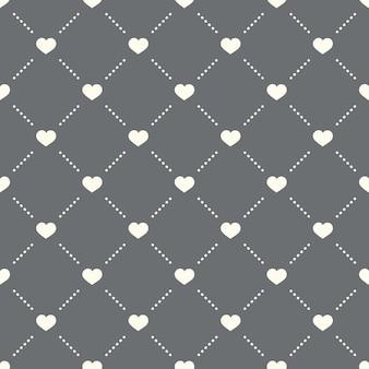 Padrão de coração sem costura em um fundo escuro. design criativo do ícone de coração. pode ser usado para papel de parede, fundo de página da web, têxtil, impressão ui / ux