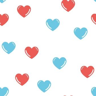 Padrão de corações aleatórios. plano de fundo dia dos namorados para modelo de férias. ilustração de estilo criativo e luxuoso