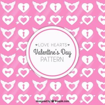 Padrão de corações de amor