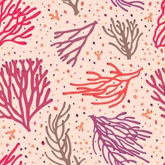 Padrão de coral colorido
