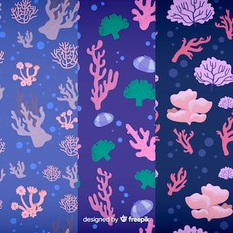 Padrão de coral plano