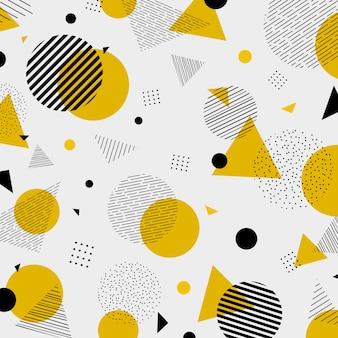 Padrão de cores preto amarelo colorido geométrico abstrato