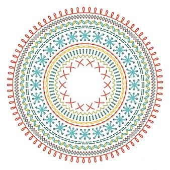 Padrão de costura de círculo.