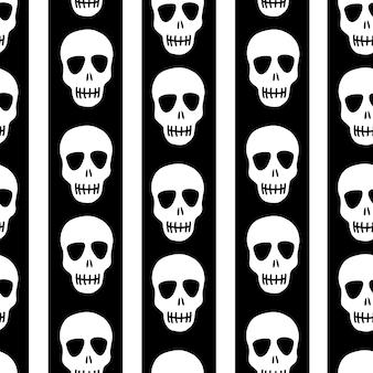 Padrão de crânio e design para o dia das bruxas dos mortos