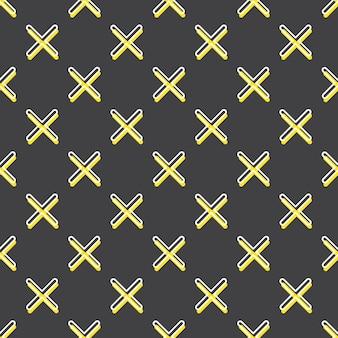 Padrão de cruzes, fundo geométrico abstrato nos anos 80, estilo retro dos anos 90. ilustração geométrica colorida