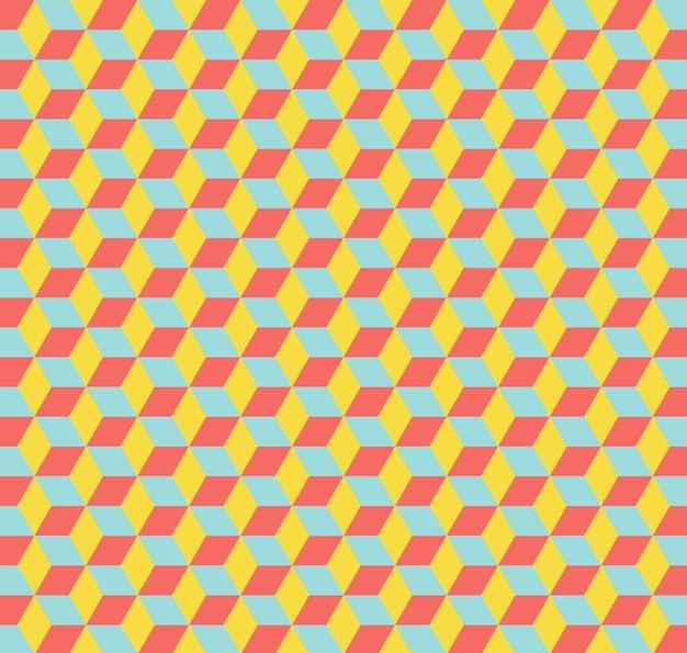 Padrão de cubos. fundo geométrico abstrato. ilustração de estilo elegante e luxuoso