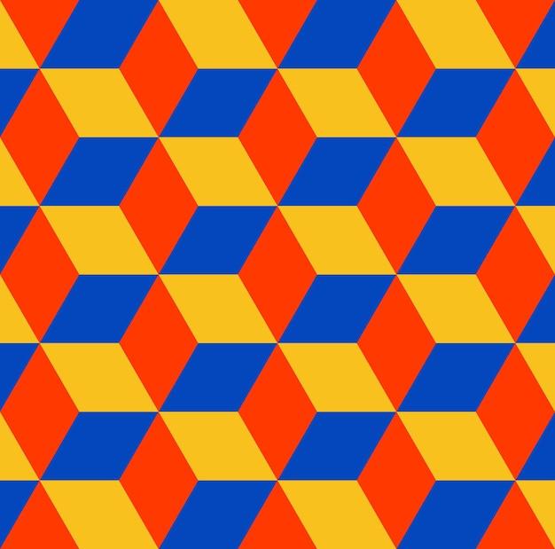 Padrão de cubos. fundo geométrico simples. ilustração de estilo criativo e elegante