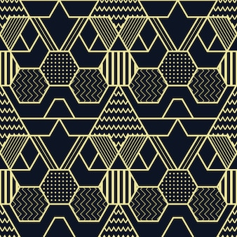 Padrão de cubos sem costura de formas geométricas abstratas