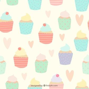 Padrão de cupcakes bonitos