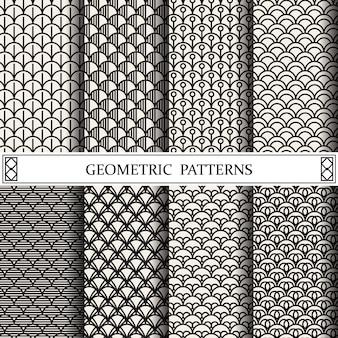 Padrão de curva geométrica, preenchimentos de padrão, página web, plano de fundo, superfície e texturas
