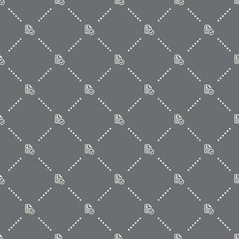 Padrão de cv sem costura em um fundo escuro. projeto criativo do ícone do cv. pode ser usado para papel de parede, fundo de página da web, têxtil, impressão ui / ux