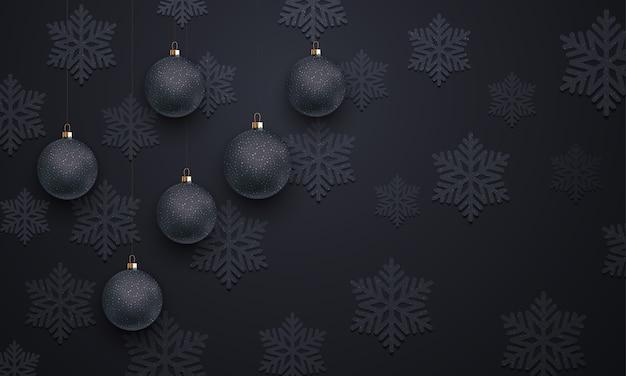 Padrão de decoração de floco de neve preto