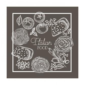 Padrão de deliciosa comida italiana
