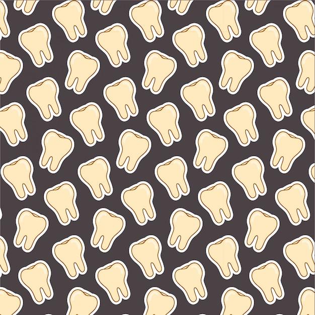 Padrão de dente no preto