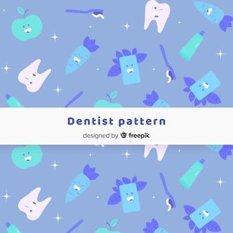 Padrão de dentista plana