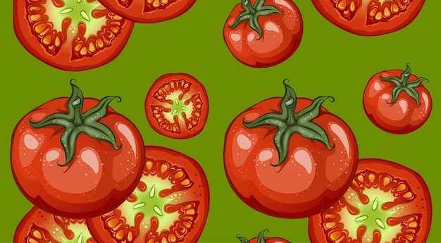 Padrão de desenho colorido de vegetais