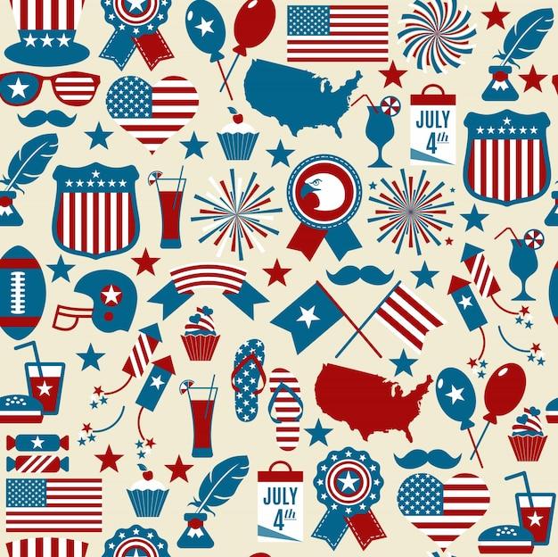 Padrão de design americano sem costura