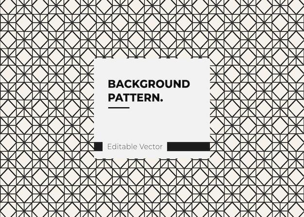 Padrão de design de linha de elemento de decoração vintage