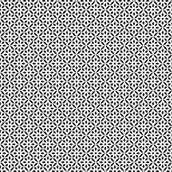Padrão de design geométrico estêncil sem costura moda fundo preto e branco
