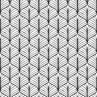 Padrão de design geométrico sem costura estilo japonês fundo preto e branco