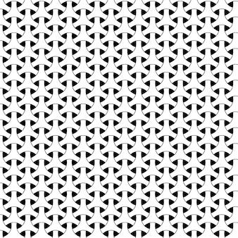 Padrão de design geométrico sem costura triângulo moderno fundo preto e branco
