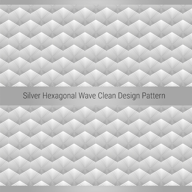 Padrão de design limpo onda hexagonal prata