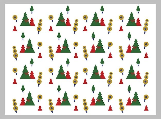 Padrão de dia de natal branco com árvore