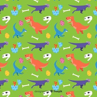 Padrão de dinossauro plana