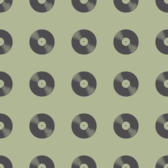 Padrão de discos de vinil, ilustração musical. capa criativa e luxuosa