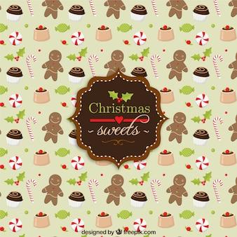 Padrão de doces do natal