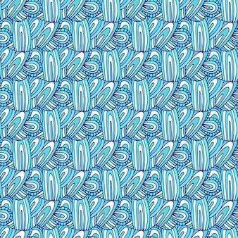 Padrão de doodle de vetor. fundo ondulado sem costura. para tecido ou design de embalagem