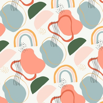 Padrão de elemento abstrato de design plano orgânico