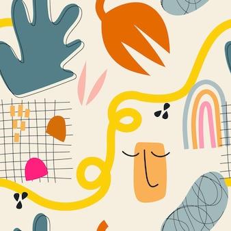 Padrão de elemento abstrato desenhado à mão