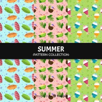 Padrão de elemento de verão colorido