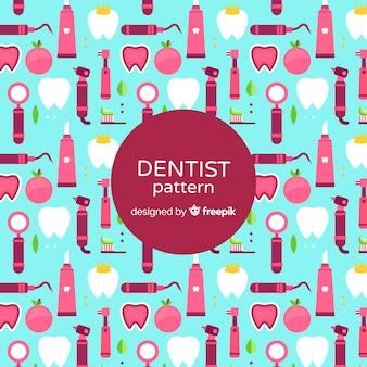 Padrão de elementos de dentista plana