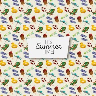 Padrão de elementos de verão