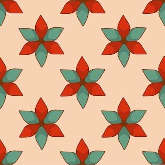 Padrão de enfeite de flor de natal de fundo ilustração vetorial de decoração de natal