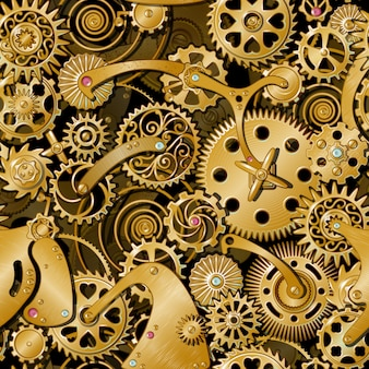 Padrão de engrenagens douradas